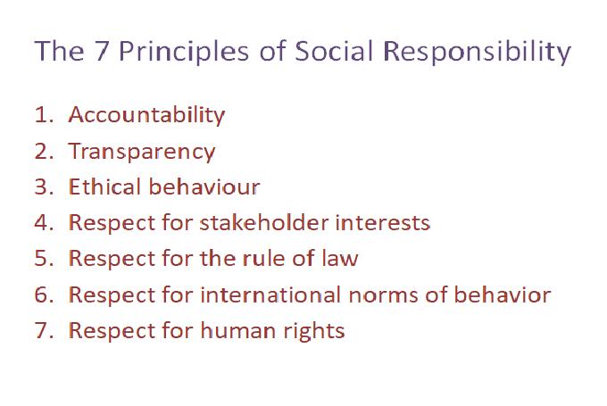 SA 8000 and social responsibility principals